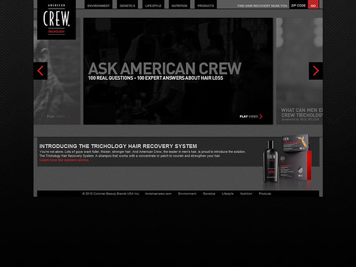 American Crew - The Trichology Website by the1stmovement