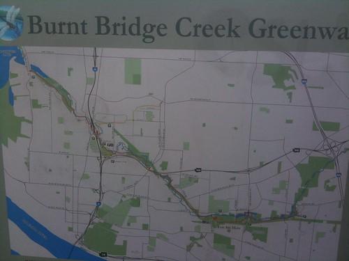 Burnt Bridge Creek Greenway trail map