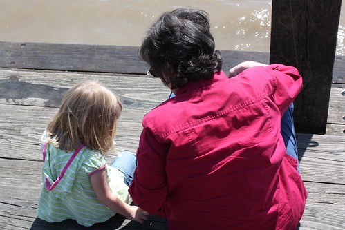 Catie & Mimi share a moment by the Mighty Mississippi