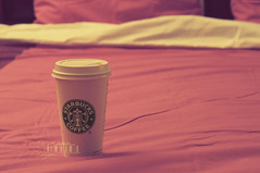 StarBucks Morning.. (- M7D . S h R a T y) Tags: morning pink coffee bed hotchocolate starbucks edit pinkish wordsbyme allrightsreserved
