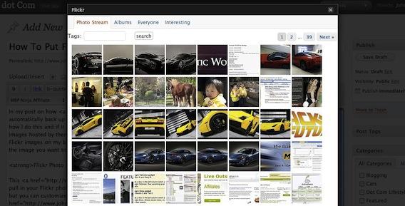 Flickr Photo Album for WordPress