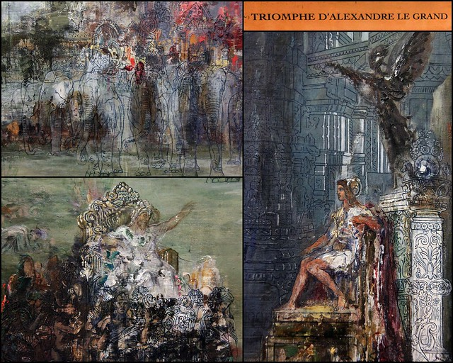Triomphe d'Alexandre le Grand- detail collage -
