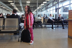 Girl in pink (individual8) Tags: girl germany airport backpack april 2010 fkb soellingen dopplr:explore=55p1