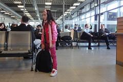 Girl in pink (individual8) Tags: girl germany airport backpack april 2010 fkb soellingen dopplr:explore=55p1