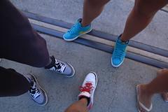 Kicks & Thongs (QUaGi) Tags: red white black yellow grey shoes sydney turqouise sneakers nike kicks grdigital blazer ricoh redfern 2010 airjordan carriageworks grd platform3 ricohgrd spizike jordan60