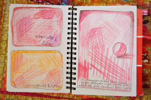Pink Notebook: crosshatching