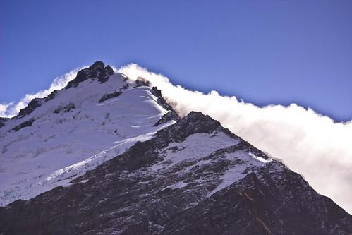 Snowy mountain ridge 1