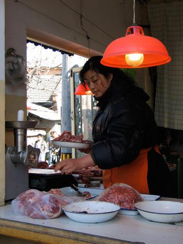 Woman preparing food on countertop