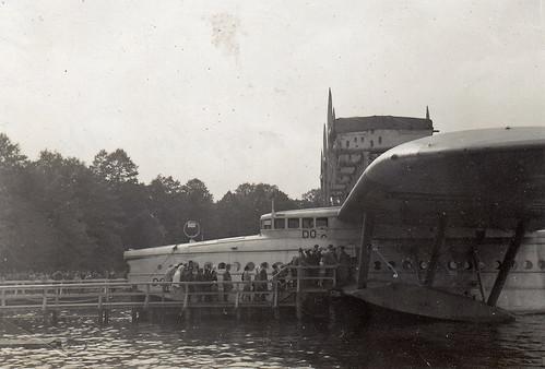 Dornier DO X flying boat. Lake Müggelsee, near Berlin, Germany. 1932.