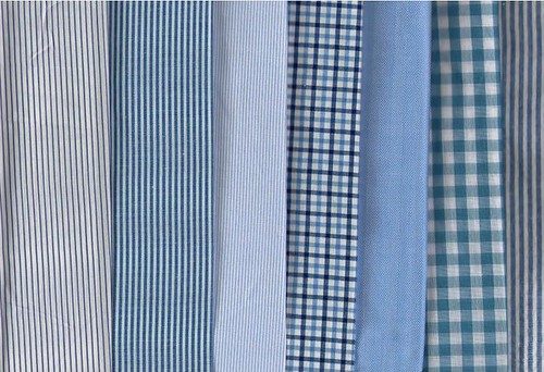 blue shirting fabrics