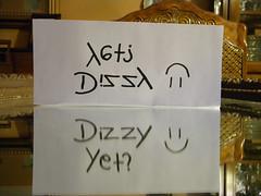 "Day 138: ""Dizzy yet?"" (Ray2theChel) Tags: writing paper mirror rachel nikon smiley 365 dizzy yet"
