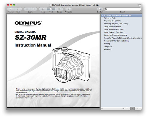 Olympus SZ-30MR Manual