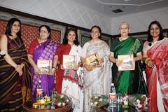 Vegetarian cookbook of ayurvedic recipes launched by Jayanthi Natarajan & Revathi