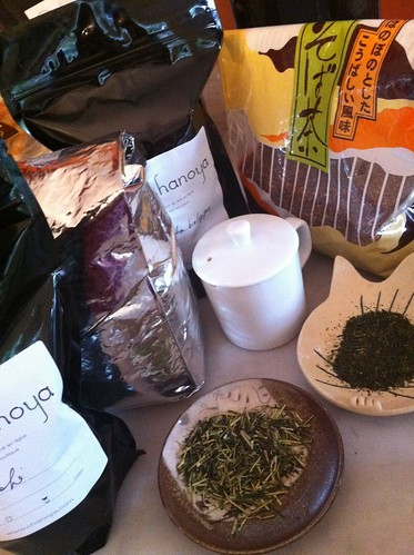 green tea tasting session