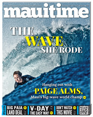 20.35 Maui Time Weekly Paige Alms Big Wave World Champion Cover (mauitimeweekly) Tags: 2035cover mauitimeweekly paigealms surfer surfing bigwave worldchampion big wave world champion maui hawaii cover