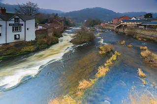 Llangollen with River Dee Afon Dyfrdwy 1