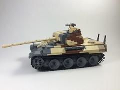 Panther Ausf A (main) (mjbricks(flose master)) Tags: lego tank panzer bricks german panther ww2 tan brickarms