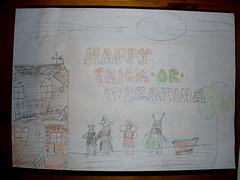 Hallowe'en illustration for H's story