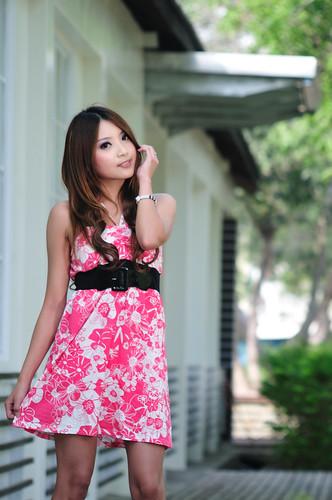 [フリー画像] 人物, 女性, アジア女性, 台湾人, ドレス, 201005050300