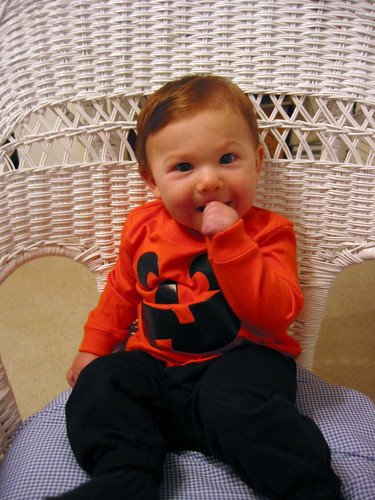 Monkey Boy's 1st Halloween {lil' Pumpkin}
