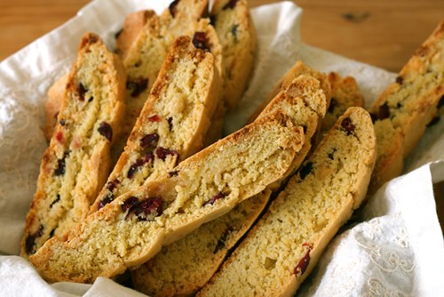Orange Cranberry White Chocolate Biscotti