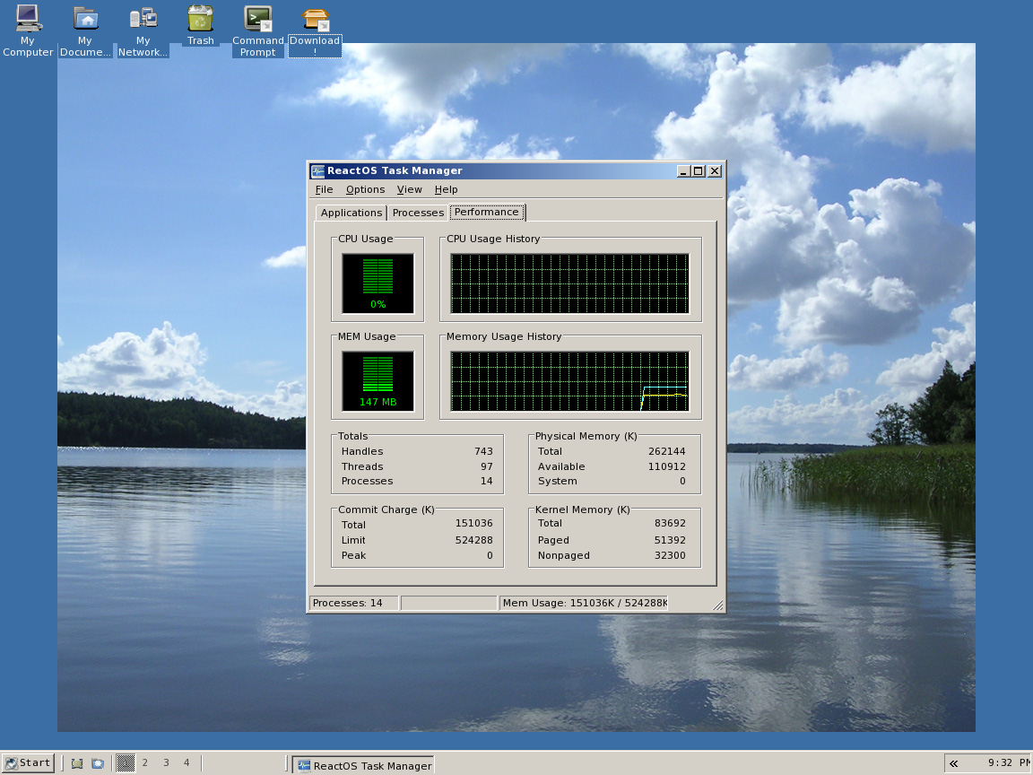 ReactOS Task Manager