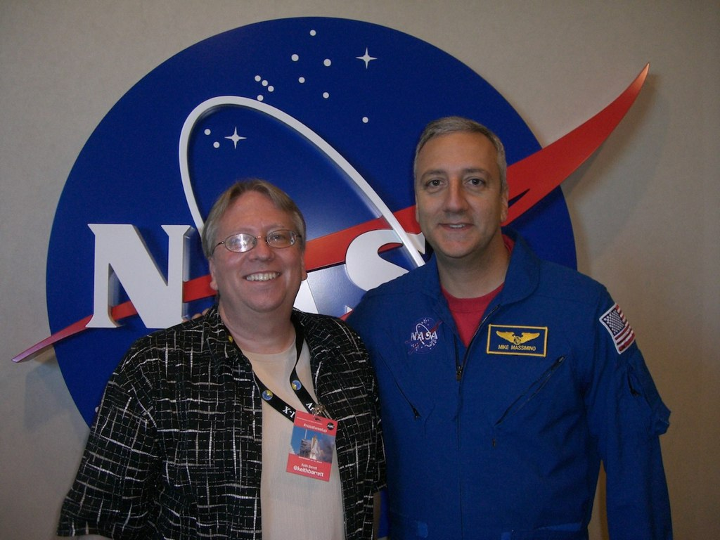 Keith Barrett with Astronaut Mike Massimino