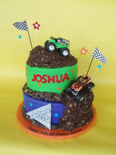 Monster Truck Jam Birthday Cake