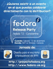 Afiche - Fedora 12 Release Party - Caracas