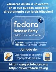 Afiche - Fedora 12 Release Party - Caracas