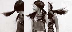 1 2 3 kids (missbodart) Tags: branco preto diversão missb criança menina cabelo loucura