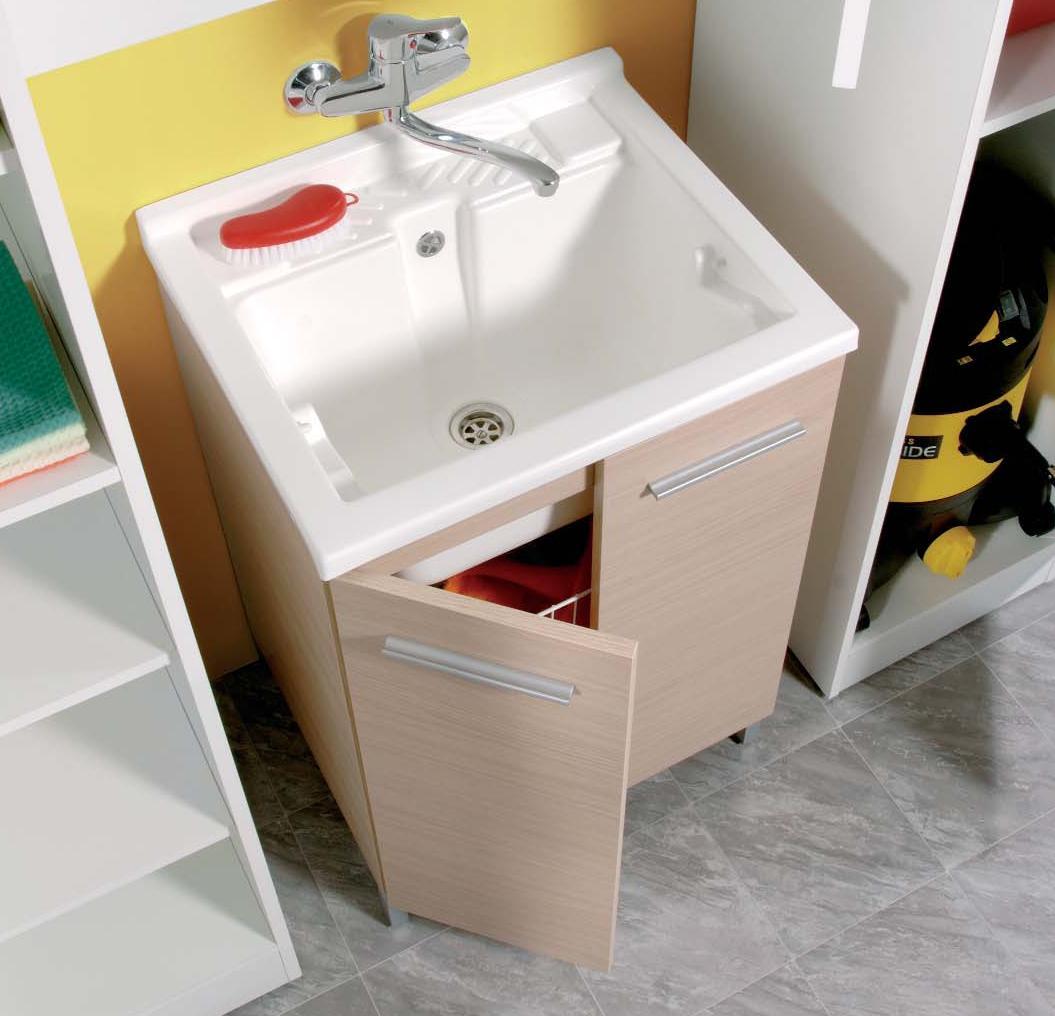 Dettagli su lavatoio - lavapanni - mobile per lavanderia