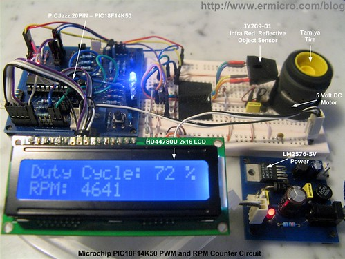 PIC18 Pulse Width Modulation (PWM) DC Motor Speed Controller with the RPM Counter Project (1)
