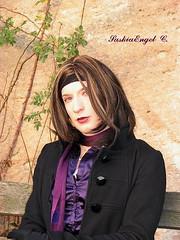 Spaziergang am 5.12. Pic 2 (SaskiaEngel) Tags: face scarf crossdressing tgirl transgender tranny transvestite satin crossdresser transe transvestit