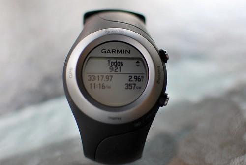 watch running gps garmin gpswatch forerunner405
