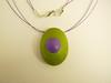 colgante tortuga verde y lila