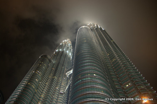 Petronas Towers and Clouds