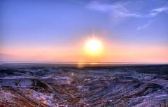 Masada dawn (JohntheFinn) Tags: seascape history archaeology landscape israel roman middleeast palace zealot masada deadsea historia maisema herod merimaisema lähiitä kuollutmeri