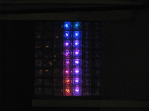 Glass Block Display (outside)