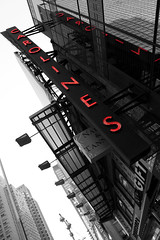 Caroline's Comedy (doug.hanson06) Tags: city newyorkcity urban newyork color colour sign architecture lights blackwhite timessquare manhatten 2009