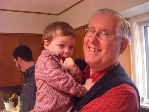 Grandpa and Landon by you.