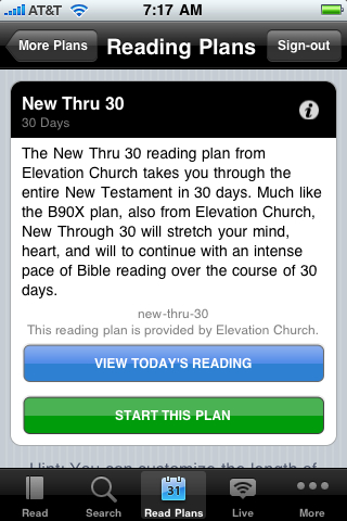 New Thru 30 Reading Plan