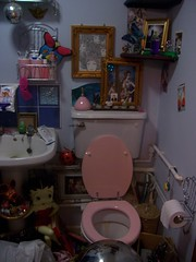clutter buggin (yorkshirepuddin) Tags: home bathroom frames mess toilet hoarding ornaments messy hoard bettyboop clutter councilestate
