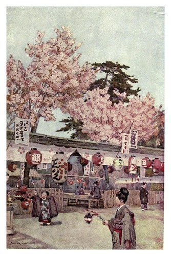 017- La fiesta de la flor del cerezo-The flowers and gardens of Japan (1908)-  Ella Du Cane