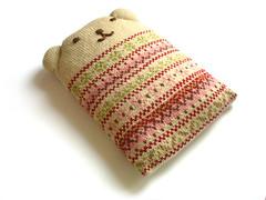 flo (Eskimimi) Tags: bear hot water bottle knitting fairisle knitted stranded cosy cosie colorwork colourwork