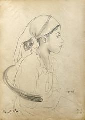 Portret de fata tataroaica_desen_Muzeul de Arta Constanta
