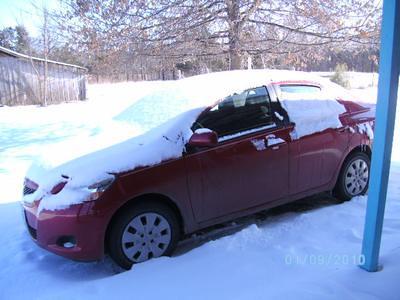 Snowed on car