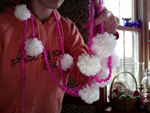 pom pom garland success!