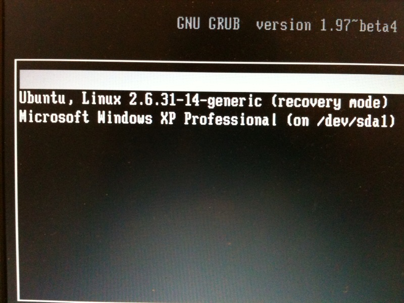 Ubuntu Boot option after wubi install