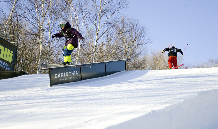Schlopy and Jordan train the gap rail